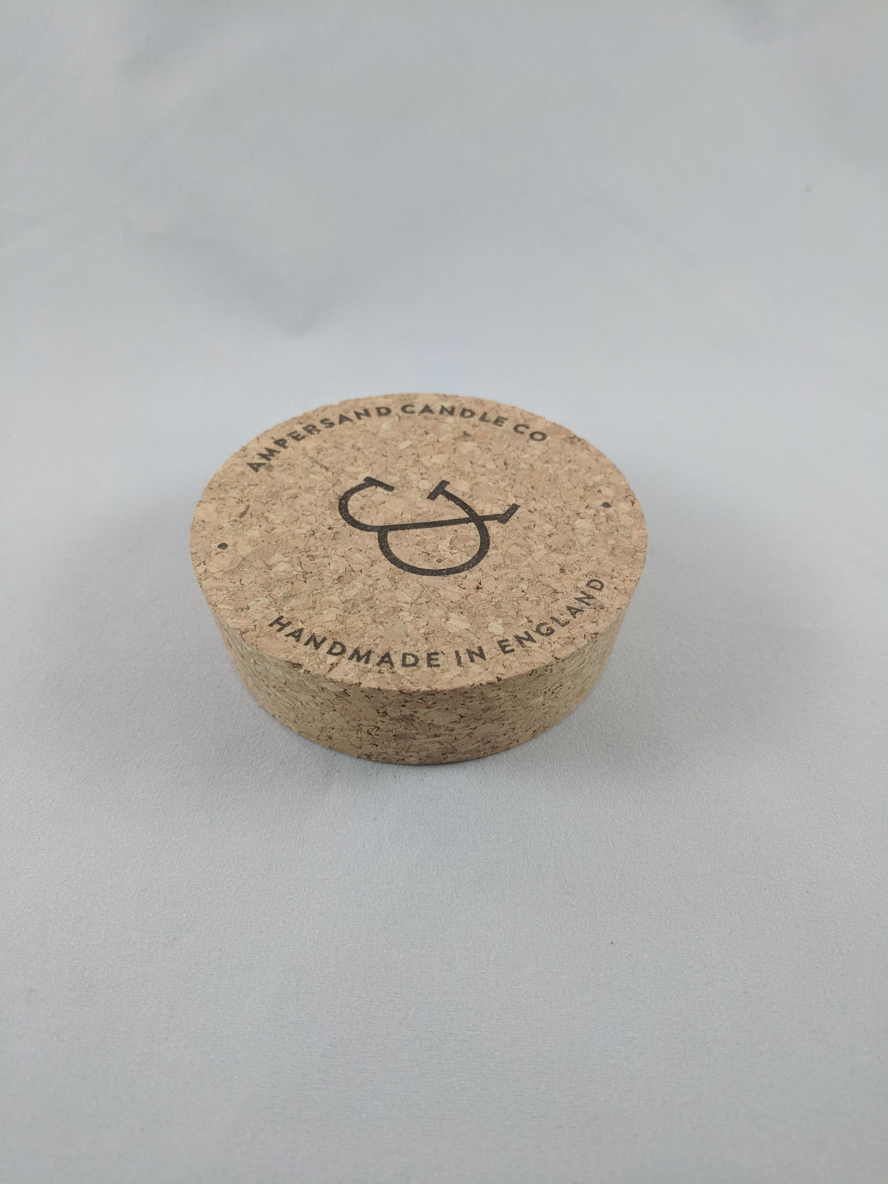 Custom printed cork lid