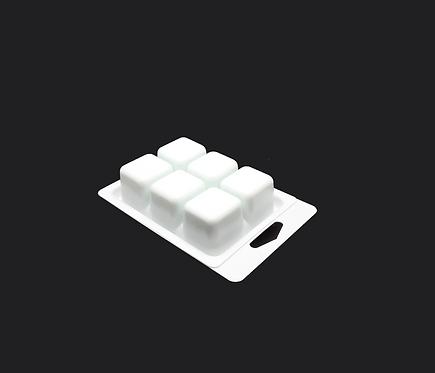 WHITE TRAY 6 CAVITY (HOLDS 2.4 OZ) - 250 pcs - SKU#GC-WM0181T