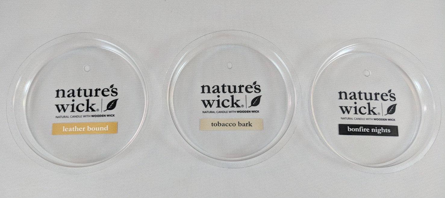 LIDS WITH PRINTED LABELS