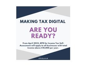 Making Tax Digital (ITSA) - are you ready?
