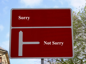 Stop saying sorry and try saying thank you instead.
