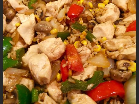 Chicken, Veggie and Brown Rice Stir-fry