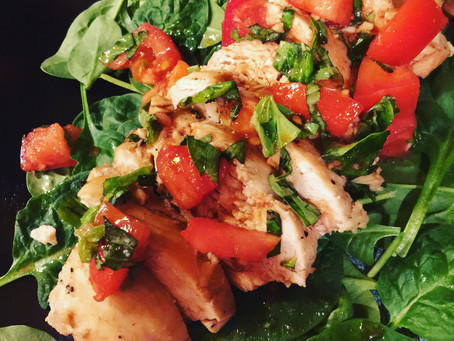 Chicken Breasts with Tomato, Basil & Arugula/Spinach