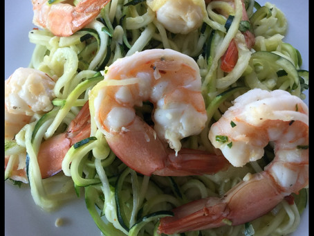 Shrimp with Zucchini Noodles
