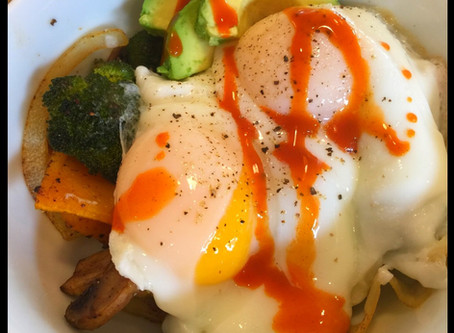 Roasted Veggie and Egg Bowl