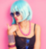 Cool pop girl portrait with thumbs up.jp