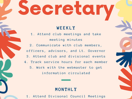 RMD Club Secretary Resources and Guide