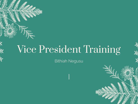 Fall Rally 2020: Vice President (Training)