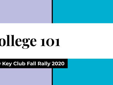 Fall Rally 2020: College 101 (Workshop)