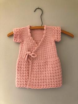 Crocheted Baby Wrap Dress