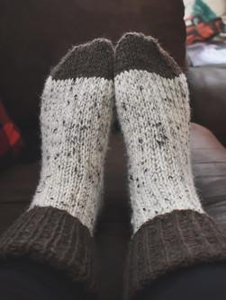 Knit Wool Socks