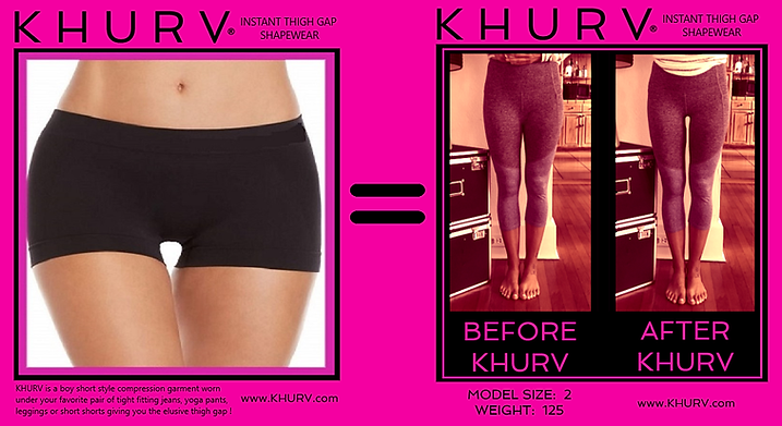KHURV® Instant Thigh Gap Shapewear