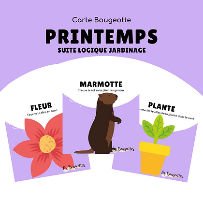 Carte Bougeotte PRINTEMPS