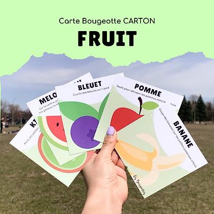 Carte Bougeotte Carton FRUIT