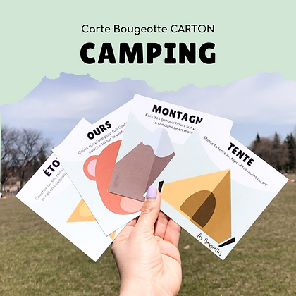 Carte Bougeotte Carton CAMPING