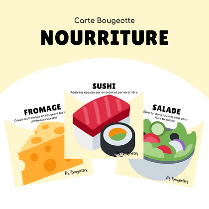 Carte Bougeotte NOURRITURE