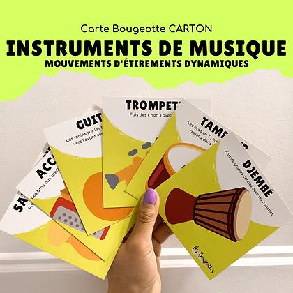 Carte Bougeotte Carton INSTRUMENTS DE MUSIQUE