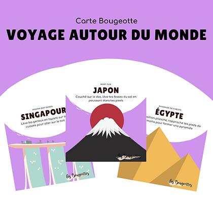 Carte Bougeotte VOYAGE AUTOUR DU MONDE