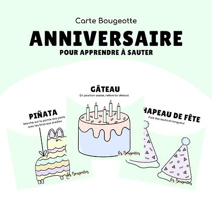 Carte Bougeotte ANNIVERSAIRE