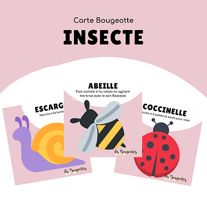 Carte Bougeotte INSECTE