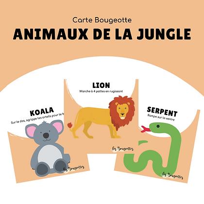 Carte Bougeotte ANIMAUX DE LA JUNGLE