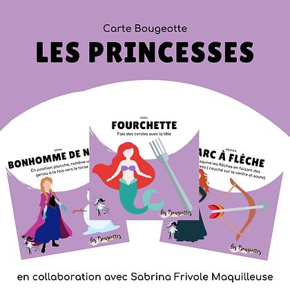 Carte Bougeotte x Sabrina, Frivole maquilleuse PRINCESSES