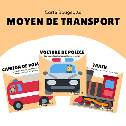 Carte Bougeotte MOYEN DE TRANSPORT