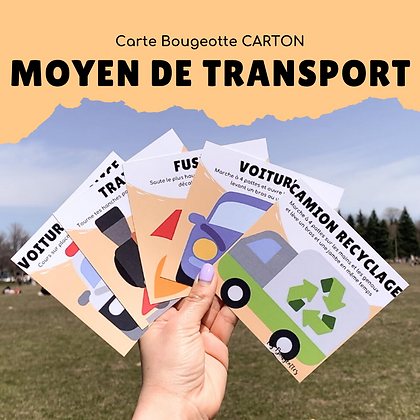 Carte Bougeotte Carton MOYEN DE TRANSPORT