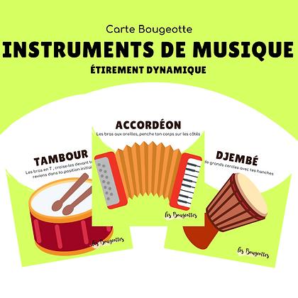 Carte Bougeotte INSTRUMENTS DE MUSIQUE