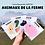 Thumbnail: Carte Bougeotte Carton ANIMAUX DE LA FERME