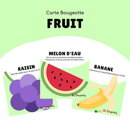 Carte Bougeotte FRUIT