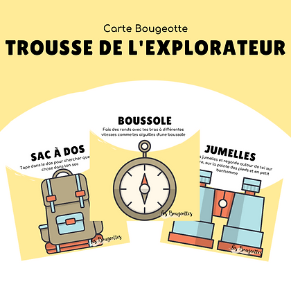 Carte Bougeotte TROUSSE DE L'EXPLORATEUR