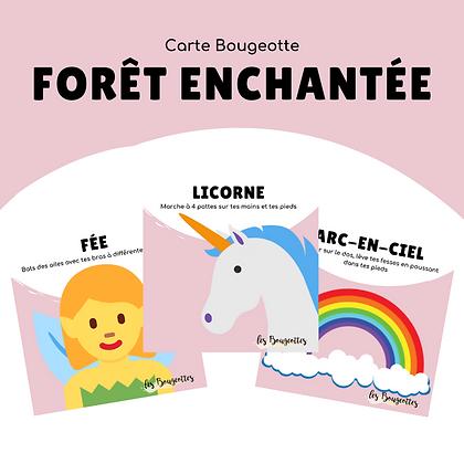 Carte Bougeotte FORÊT ENCHANTÉE