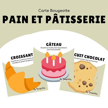 Carte Bougeotte PAIN ET PÂTISSERIE
