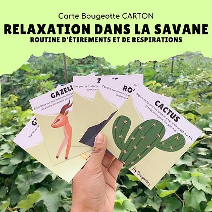 Carte Bougeotte Carton RELAXATION DANS LA SAVANE