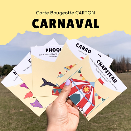 Carte Bougeotte Carton CARNAVAL