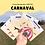 Thumbnail: Carte Bougeotte Carton CARNAVAL
