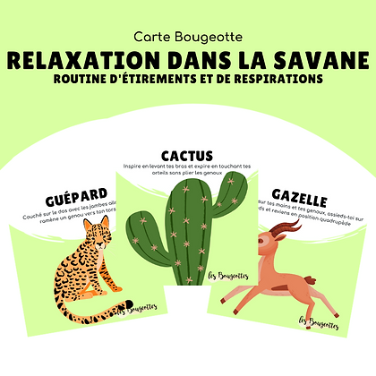 Carte Bougeotte RELAXATION DANS LA SAVANE