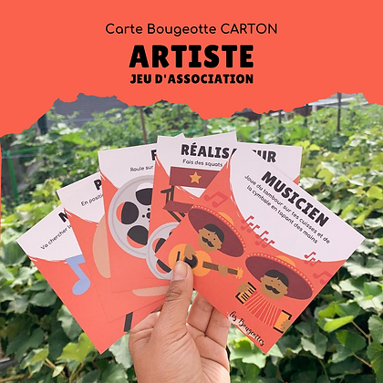 Carte Bougeotte Carton ARTISTE - JEU D'ASSOCIATION