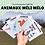 Thumbnail: Carte Bougeotte Carton ANIMAUX MÉLI MÉLO