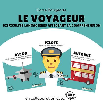 Carte Bougeotte x ORpair LE VOYAGEUR