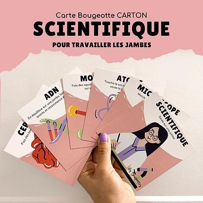 Carte Bougeotte Carton SCIENTIFIQUE