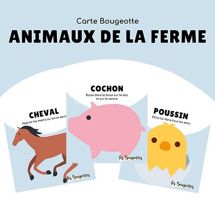 Carte Bougeotte ANIMAUX DE LA FERME