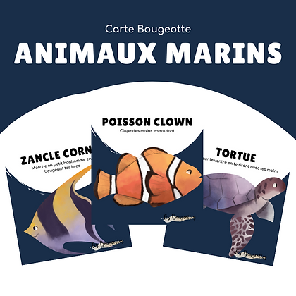 Carte Bougeotte ANIMAUX MARINS