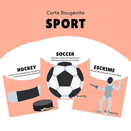 Carte Bougeotte SPORT