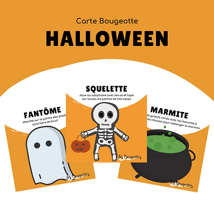 Carte Bougeotte HALLOWEEN