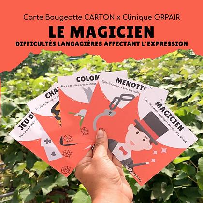 Carte Bougeotte Carton x ORpair LE MAGICIEN