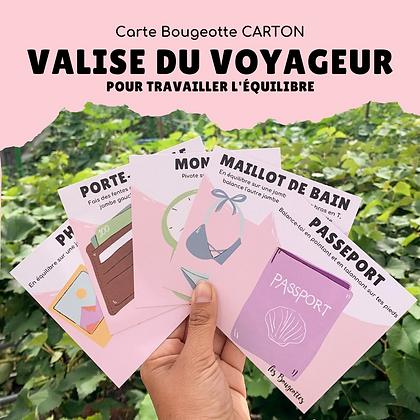 Carte Bougeotte Carton VALISE DU VOYAGEUR