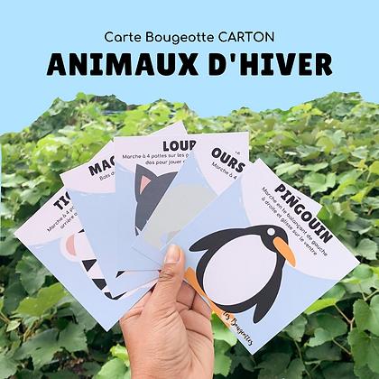 Carte Bougeotte Carton ANIMAUX D'HIVER