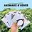 Thumbnail: Carte Bougeotte Carton ANIMAUX D'HIVER